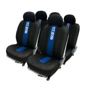Juego de fundas de asiento marca SPARCO SPC color Negro con Azul