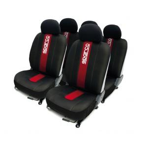 Juego de fundas de asiento marca SPARCO SPC color Negro con Rojo
