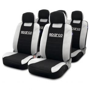 Juego de fundas de asiento marca SPARCO SPC color Plomo con Negro