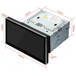 Autoradio de ultima generación 2DIN UNIVERSAL con SIN DVD Pantalla 10.1