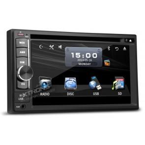 """Equipo DVD  marca XTRON modelo XT-TD609 Doble DIN, Pantalla tactil de 6,2"""", Bluetooth, USB, SD, Mp3, Mp4 (IMPORTACIÓN 7D)"""