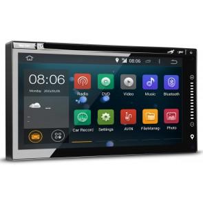 """Autoradio Android de ultima generación UNIVERSAL 2DIN con DVD Pantalla plana 6.95"""" Procesador 4 Nucleos -16Gb. Memoria + Camara Retro, GPS, Internet, TV (IMPORTACIÓN 7D)"""