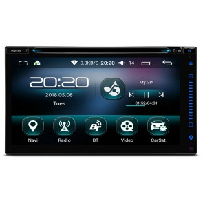 "Autoradio de ultima generación 2DIN Universal con DVD Marca XTRONS, pantalla 6.95"", Procesador 4 Nucleos,  Android 6.0 con GPS-BT-USB-WIFI-Camara Retro (EN STOCK)"