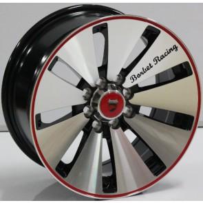"""Juego de aros marca VARELOX WHEELS  modelo V0058 mf/ml-bl - 16"""" - 8H - AUTOS"""