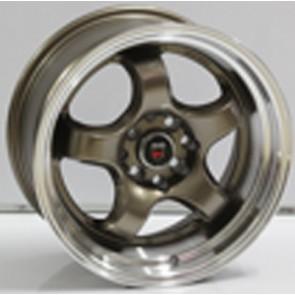 """Juego de aros marca VARELOX WHEELS  modelo V0063  ml-brnz - 16"""" - 8H - AUTOS"""