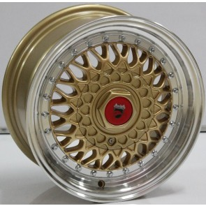 """Juego de aros marca VARELOX WHEELS  modelo V0064 ml-gold2 - 16""""x8.0"""" - 8H - AUTO"""