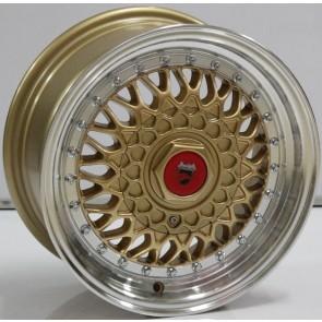 """Juego de aros marca VARELOX WHEELS  modelo V0064  ml-gold - 17""""x8.5"""" - 8H - AUTO"""