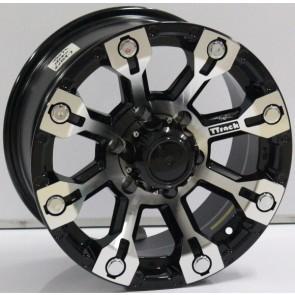 """Juego de aros marca VARELOX WHEELS  modelo V0072  mf-black - 16""""x8.0"""" - 6H - Camioneta"""