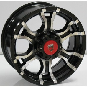 """Juego de aros marca VARELOX WHEELS  modelo V0073  mf/ml-b - 16""""x7.0"""" - 6H - Camioneta"""
