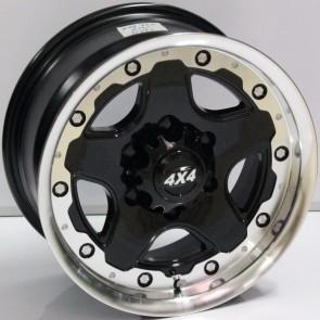 """Juego de aros marca VARELOX WHEELS  modelo V0169  b-p-r - 16""""x8.0"""" - 6H - Camioneta"""