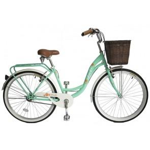 Bicicleta Pistera marca JAFI modelo LADY sin cambios Aro 26 (Verde)