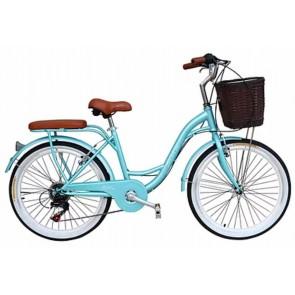 "Bicicleta Pistera marca BOX BIKE  aro 24"" y 26"" (Verde Agua)"