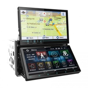 Radio pantalla doble marca SOUNDSTREAM modelo VRN-DD7HB (GPS/ DVD/ USB/ Bluetooth) en Stock