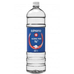 Alcohol puro de 96° liquido - Botella de 900 ml - Experto