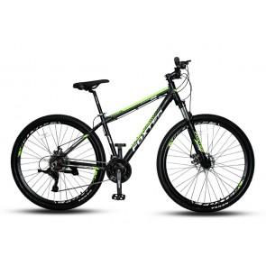 """Bicicleta FOXTER modelo FT401 aro 29"""" (Negro con Verde)"""