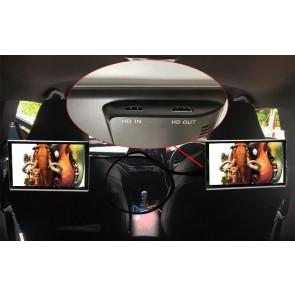 """Par de pantallas de 11.6"""" - Tecnologia Smart 4K para cabecera, marca XTS con Sistema Android 10 - Procesador 8 núcleos (16+2) con Miracast y Airplay, HDMI DUAL, Wi-Fi, Bluetooth, entrada microSD, USB + 2 Auriculares Inalambricos (Importación 7D)"""
