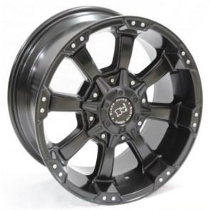 """Juego de aros RPC Wheels  modelo XH845  matt black - réplica - 16""""x8.0"""" - 6x139.7"""