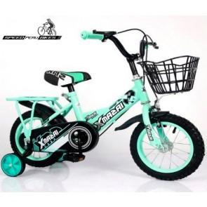 """Bicicleta para niños XMAZAI modelo BMX aro 14"""" (Verde)"""