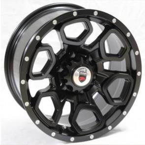 """Juego de aros marca VARELOX Wheels  modelo YD2827  blk-r/m5 - 17""""x9.0"""" - 6x139.7 - Camioneta"""