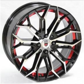 """Juego de aros marca VARELOX Wheels  modelo Z258  b1/r+b4 - 17""""x7.5"""" - 4x100 (8h)"""