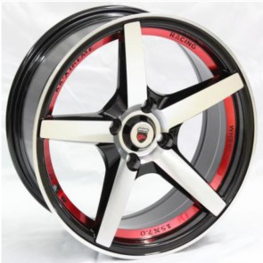 """Juego de aros marca VARELOX Wheels  modelo Z366  b1/r+b4 - 17""""x8.0"""" - 4x100 (8h)"""