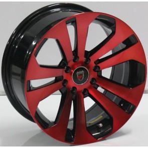 """Juego de aros marca VARELOX WHEELS  modelo ZF-1001 b-pr - 15""""x7.0"""" - 8H - AUTOS"""