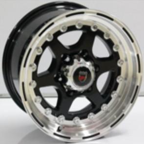 """Juego de aros marca VARELOX WHEELS  modelo ZF-1049  blp - 16""""x8.5"""" - 6H - Camioneta"""
