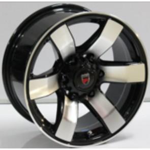 """Juego de aros marca VARELOX WHEELS  modelo ZF-549  bp - 16""""x8.0"""" - 6H - Camioneta"""