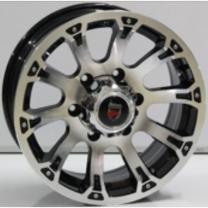 """Juego de aros marca VARELOX WHEELS  modelo ZF-755 bp - 15""""x7.0"""" - 6H - Camioneta"""