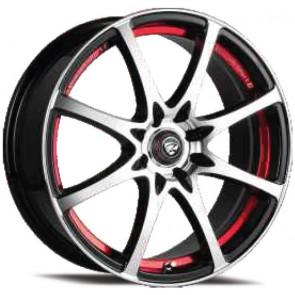 """Juego de aros marca ZEHLENDORF Wheels  modelo ZH-480  bk-ird/fp - 14""""x6.0"""" - 8H - Auto"""