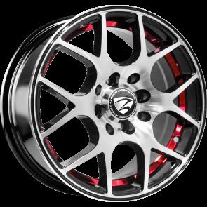 """Juego de aros marca ZEHLENDORF Wheels  modelo ZH-742  bk-ird/fp - 14""""x6.0"""" - 8H - Auto"""