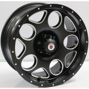 """Juego de aros marca VARELOX WHEELS  modelo ZY-R3243  blk-w/m7  - 17"""" - 6x114.3 - CAMIONETA"""