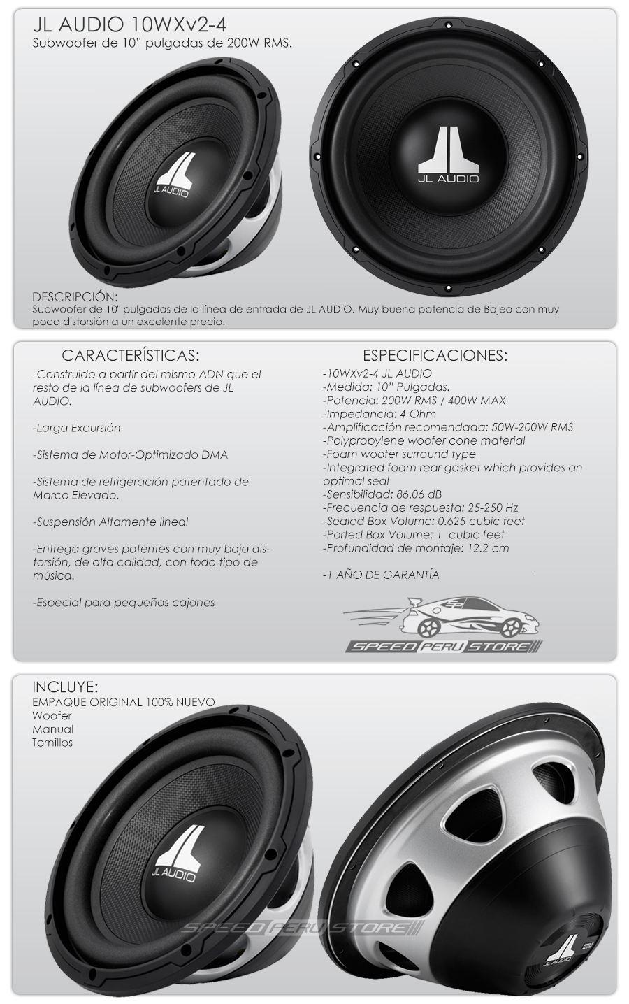 Subwoofer JL Audio 10WXV2-4